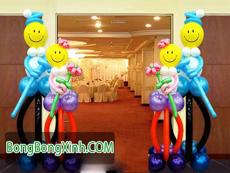 Trụ bong bóng 072 nghệ thuật đẹp