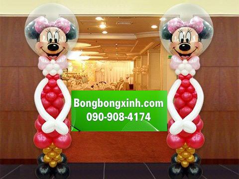 Trụ bong bóng 077 - hai chú chuột Mickey