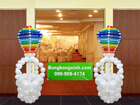 Trụ bong bóng 086 tạo hình khí cầu