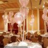 Bàn tiệc bong bóng lồng màu hồng 050