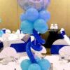 Trang trí bàn tiệc cưới bằng trụ bong bóng xinh đẹp BT057