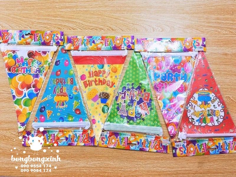 Dây cờ giăng trang trí sinh nhật nhiều màu sắc xinh đẹp