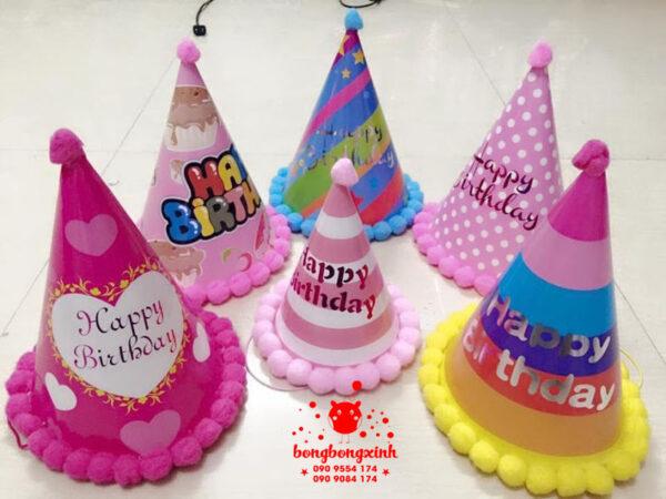 Mũ sinh nhật cho bé giá rẻ có chữ Happy Birthday MSN001