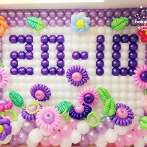 Trang trí sự kiện cho bé với tường bong bóng xinh đẹp TBB048