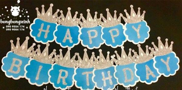 Giấy chữ Happy Birthday xinh đẹp cho bé GCSN002