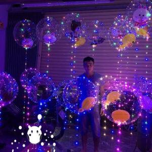 Bong bóng bay độc đáo với kết hợp đèn nhiều màu BB073