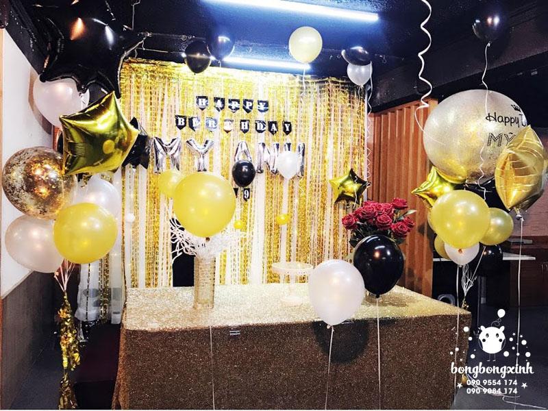 Trang trí bàn quà sinh nhật sang trọng BQ137