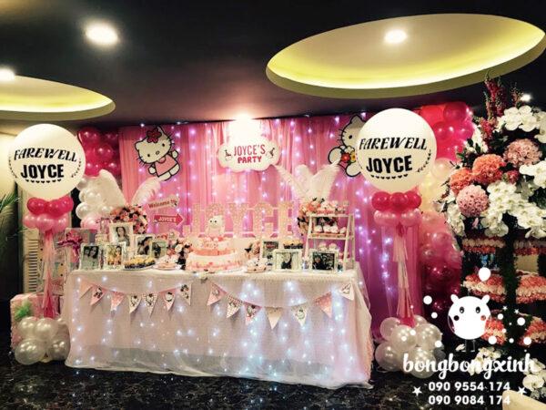 Trang trí bàn sinh nhật chủ đề Hello Kitty cực đẹp BQ141
