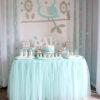 Bàn quà sinh nhật xanh mint đơn giản nhẹ nhàng BQ162