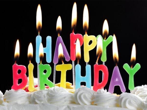 Nến sáp chữ Happy Birthday
