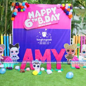 Backdrop sinh nhật cho bé gái theo chủ đề Lol Surprise 022