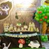 Trang trí bàn sinh nhật cho bé trai theo chủ đề rừng xanh BQ167