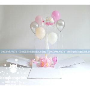 Hộp Surprise sinh nhật kèm bong bóng SUR002