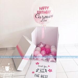 Hộp surprise màu hồng dành cho sinh nhật SUR004