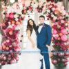 Cổng chảo tiệc cưới kết hợp giữa bong bóng và hoa hồng CA121