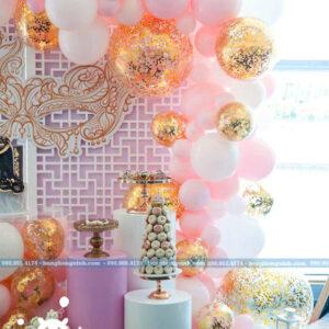 Backdrop trang trí để bánh kem màu hồng BRC004