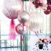 Trụ bong bóng trang trí sự kiện tiệc cưới TBB145
