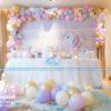 Trang trí bàn sinh nhật theo chủ đề chú ngựa pony BQ175