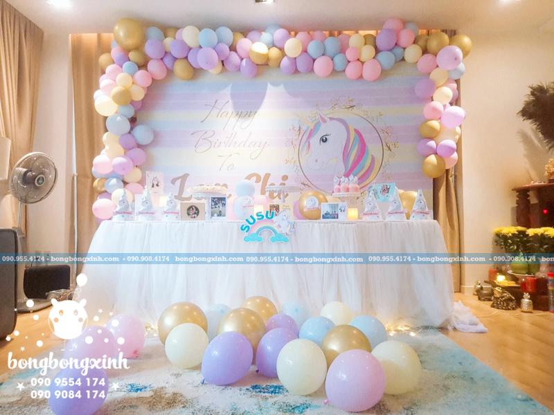 bàn sinh nhật theo chủ đề chú ngựa pony BQ175