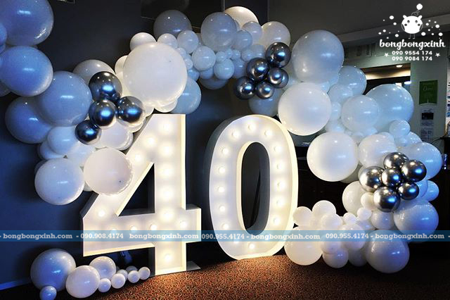 Backdrop trang trí sinh nhật 40 tuổi BBBN131