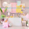 Bàn quà sinh nhật màu Pastel BQ179