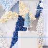 Bàn quà sinh nhật hoa và bong bóng BQ180