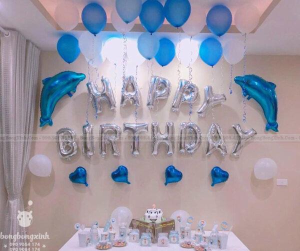Chữ Happy Birthday chủ đề Dolphin