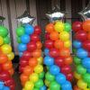 Trụ bong bóng party rainbow and star TBB148