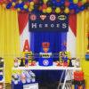 Bàn quà sinh nhật Super Hero BQ193