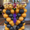 Trụ bong bóng vàng đồng đen TBB149
