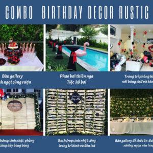 Trang trí sinh nhật trọn gói với bộ sản phẩm phong cách Rustic độc đáo