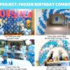 Bộ sản phẩm trang trí sinh nhật trọn gói chủ đề Frozen