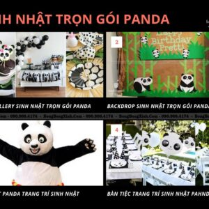Sinh nhật trọn gói Panda SET001