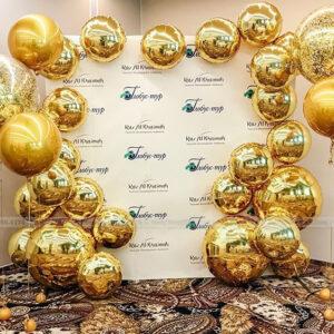 Backdrop bong bóng Golden trang trí khai trương văn phòng KTVP003