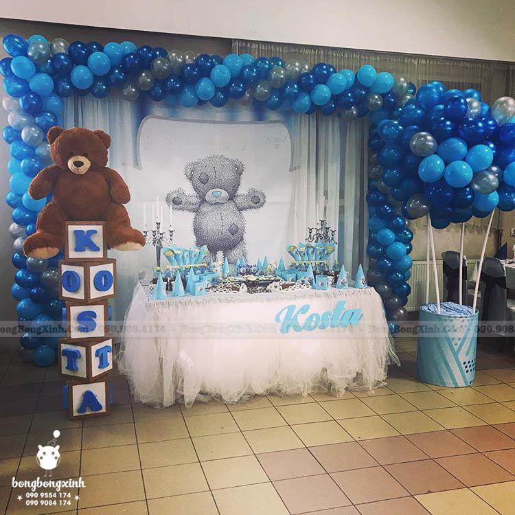 Bàn quà sinh nhật gấu Teddy BQ202