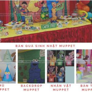 Trang trí sinh nhật trọn gói Muppet Theme SET002