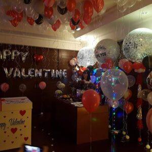 Trang trí valentine bằng bong bóng bay BB089