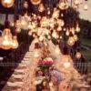 Bàn tiệc sử dụng đồ handmade trang trí đám cưới BT063