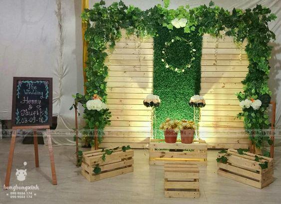 Trang trí hội trường đám cưới đẹp Woody BRC012