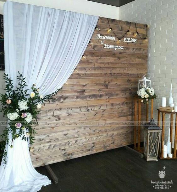 Trang trí đám cưới backdrop lãng mạn BRC014