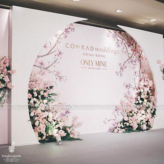 Backdrop tiệc cưới chủ đề Hồng Kông BRC015
