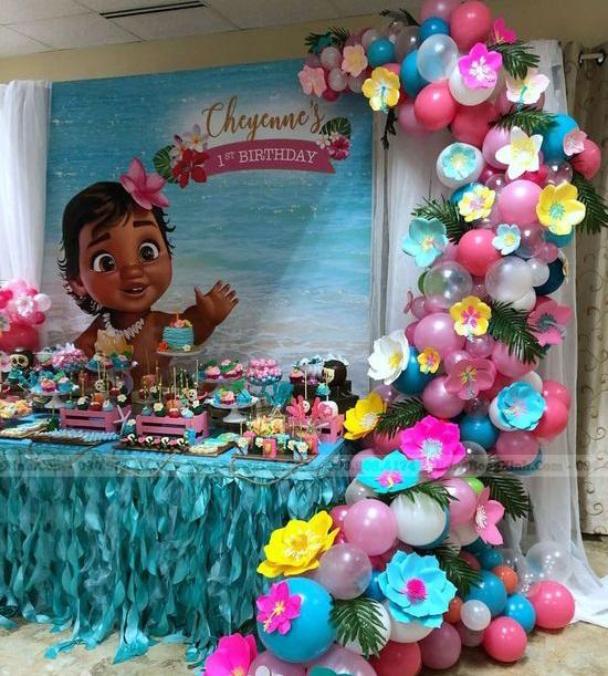 Bàn quà sinh nhật tiệc bãi biển BQ212