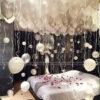 Trang trí sinh nhật phòng ngủ bằng bong bóng bay sang trọng BB087