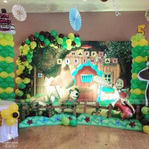 Backdrop sự kiện quận 1 sinh nhật Mihika BBBN138