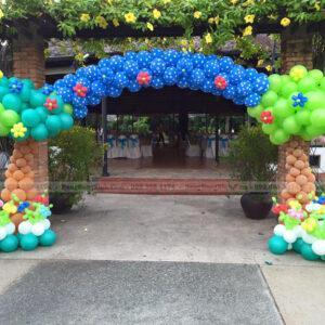 Cổng chào bong bóng rừng xanh CB156 trang trí sinh nhật cho bé