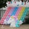 Trang trí sinh nhật backdrop bong bóng kỳ lân Pony BBBN139