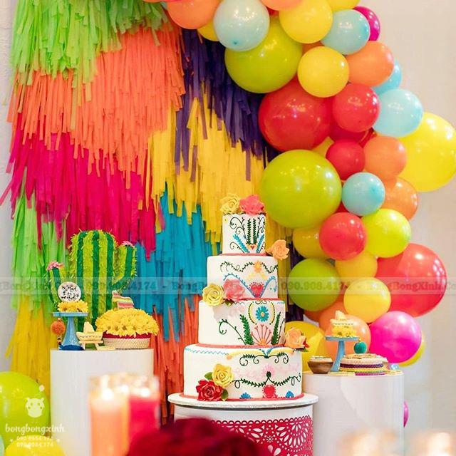 Trang trí sinh nhật cho bé với bộ backdrop đa sắc BBBN140
