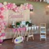 Backdrop sinh nhật bé gái màu hồng BBBN148