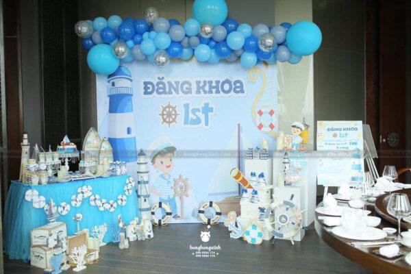 Backdrop sinh nhật cho bé trai chủ đề biển BBBN150