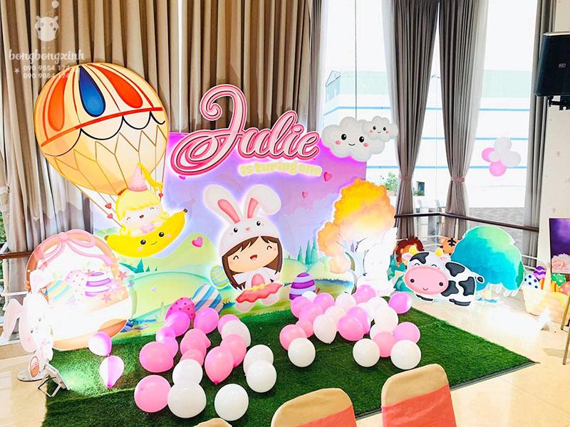 Tiểu cảnh sinh nhật 3D đẹp cho bé yêu BBX015
